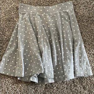 Grey polka dot skirt